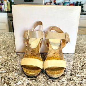 BCBGeneration Shoes - BCBG Generation nude wedges size 5.5